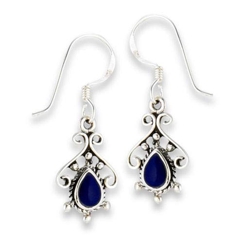 Rope Teardrop Filigree 925 Sterling Silver Scroll Fancy Bohemian Ornate Earrings