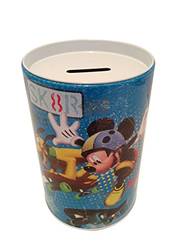 Mickey and Pluto on Skate Board Coin Bank for Kids -