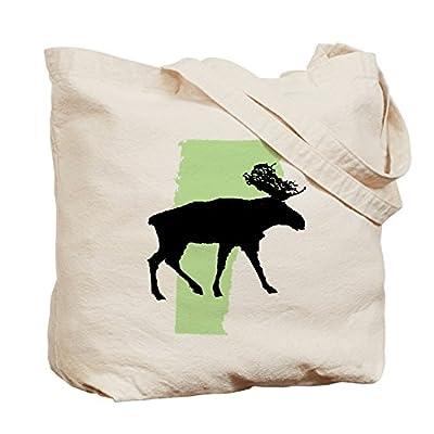 CafePress - Go Green Vermont Reusable Canvas Tote Bag - Natural Canvas Tote Bag, Cloth Shopping Bag