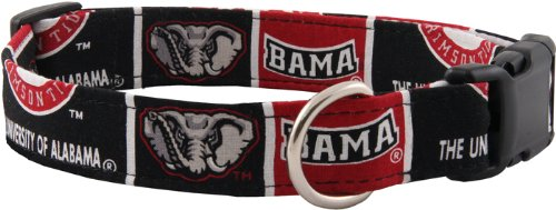 Country Brook Design Alabama Custom Handmade Designer Dog Collar-L, My Pet Supplies