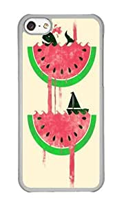 linJUN FENGApple ipod touch 5 Case,WENJORS Adorable Watermelon falls Final Hard Case Protective Shell Cell Phone Cover For Apple ipod touch 5 - PC Transparent