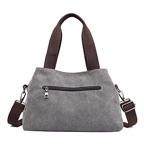 Le Donne Tracolla Borsa Per Casual Borse Donna S A Tela Resistente Spalla Ladies Wwave Bag Grey Nuovo qwEBCt