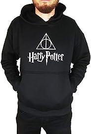 Moletom Unissex Canguru Harry Potter Preto