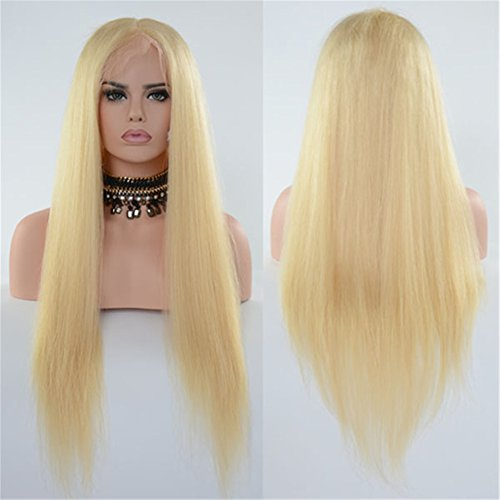 613 Pure Blonde Human Hair Lace Front Wigs For Women With