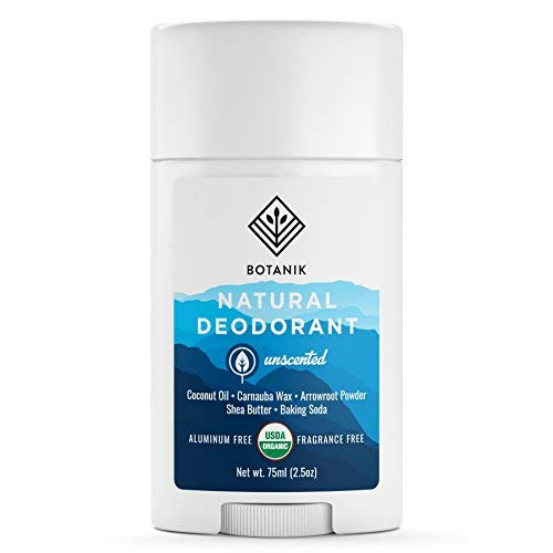 Botanik Natural Deodorant for Sensitive Skin - Unscented - Organic - Fragrance Free - Aluminum Free - 2.5 oz