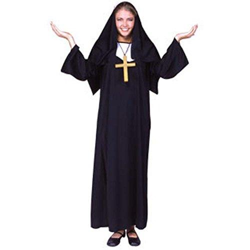 Women's Nun Outfit Halloween Costume (Size: Standard 8-12)]()
