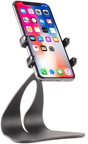 Max Xs Max Pro X, 8, 7, SE, All Plus Sizes and Handheld Devices from 2.3 to 3.5 inches Wide Thought Out PED5-GRAND-H Stand Rotate Holder Made in USA Compatible with Apple iPhone 11 Xr Xs