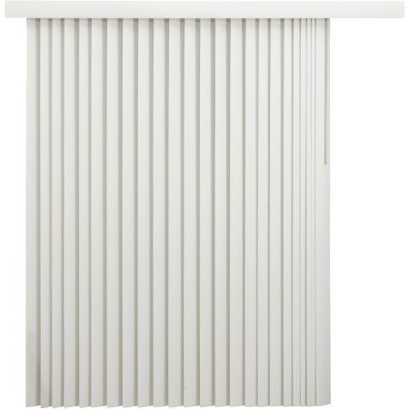 - Mainstays Room-Darkening Vertical Blinds with Embossed Leaf Pattern, Oyster