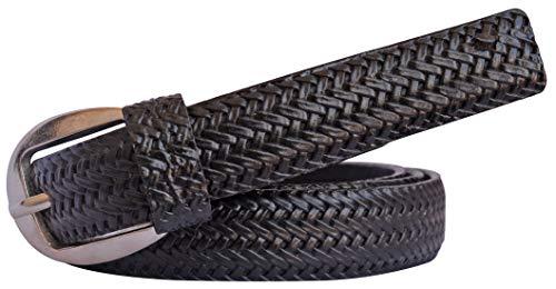 Sunshopping Women Black Formal Synthetic Belts (NNN-8-BL)