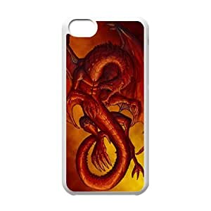 Protection Cover Hard Case Of Red Dragon Cell phone Case For Iphone 5C