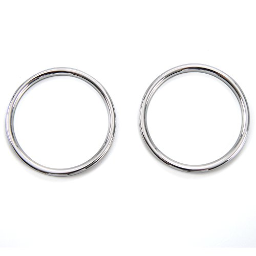RT-TCZ ABS Plastic Door Inner Speaker Cover Ring Decor Trim 2pcs for Ford Mustang 2015 2016 2017 (Chrome) ()