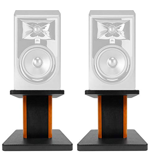 "Monitor Mkii - ROCKVILLE 8"" Wood Studio Monitor Speaker Stands for JBL 306P MKII Monitors"