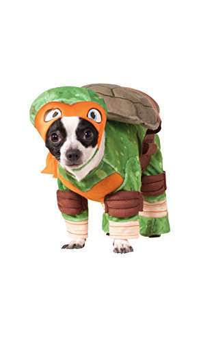 Ninja Turtles Dog Costumes (Rubies Costume Company Teenage Mutant Ninja Turtles Michelangelo Pet Costume, Small)