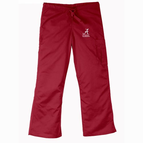 Alabama Scrubs (Alabama Crimson Tide NCAA Cargo Style Scrub Pant (Crimson))