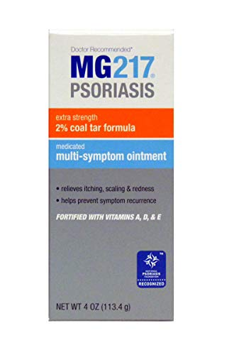 MG217 Psoriasis Multi Symptom Relief 2% Coal Tar Medicated Ointment - 4 oz Jar (Best Over The Counter Steroid Cream)