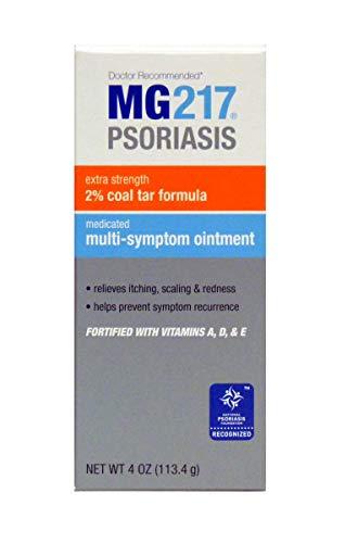 MG217 Psoriasis Multi Symptom Relief 2% Coal Tar Medicated Ointment - 4 oz Jar (Best Cream For Scalp Psoriasis)