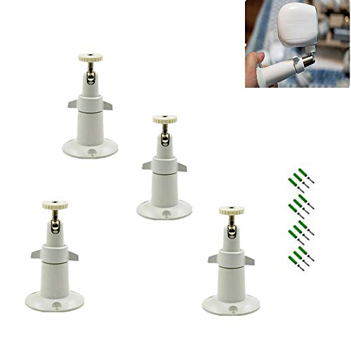 Arlo Mount/Arlo Pro Mount(4 Pack, Metal),Borang Security Camera Metal Wall/Ceiling Mount, Adjustable Indoor/Outdoor Mount for Arlo, Arlo Pro, CCTV Camera and Other Compatible Models (White)