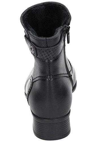 Comfortabel Damen Stiefel Schwarz, 961588-1 schwarz