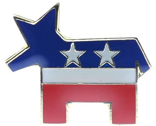 Donkey Democrat Pin Lapel (Sujak Military Items Democrat Party DNC Political Donkey 1 inch Hat Lapel Pin AK499)