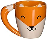Thumbsup UK, Fox Shaped Mug, Orange, Ceramic