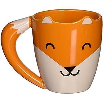 Thumbs Up! Fox Shaped Mug, Orange, Ceramic