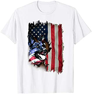 German Shepherd s US Flag 4th Of July Gifts T-shirt | Size S - 5XL
