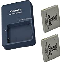 Canon CB-2LV Charger for Canon NB-4L Li-ion Battery compatible with Canon PowerShot SD40 SD30 SD200 SD300 SD400 SD430 SD450 SD600 SD630 + 2 Bonus Battery!