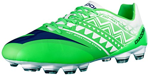 Diadora Men's DD-NA 3 GLX14 Soccer Cleat, Fluo Green/White, 10 M (Diadora Soccer Gear)