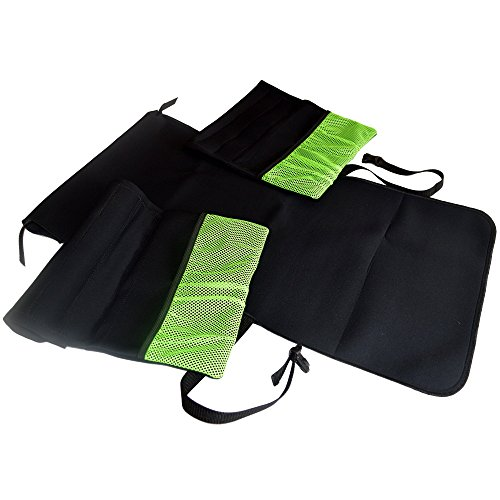 Senior Mobility Wheelchair Saddle Bag Set with Attached Arm Rests and Back Seat Cover, 3 (Mobility Saddlebag)