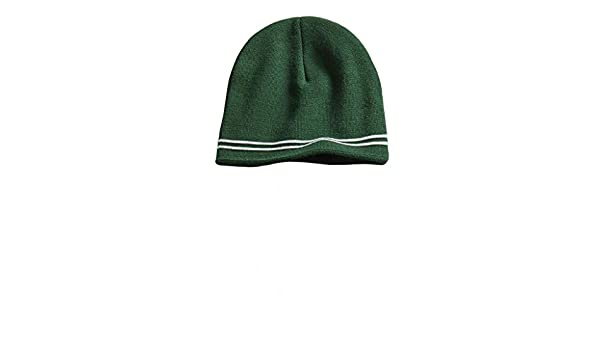 df3caea2588 Sport-Tek Spectator Beanie One size Forest Green White STC20 at Amazon  Men s Clothing store