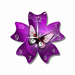 dudkaair Butterfly 11.8'' Handmade Wall Clock - Get Unique décor for Home or Office - Best Gift Ideas for Kids, Friends, Parents and Your Soul Mates