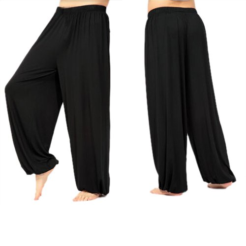 Amazon.com : Gleader yoga pants Loose Modal bloomers pants home ...