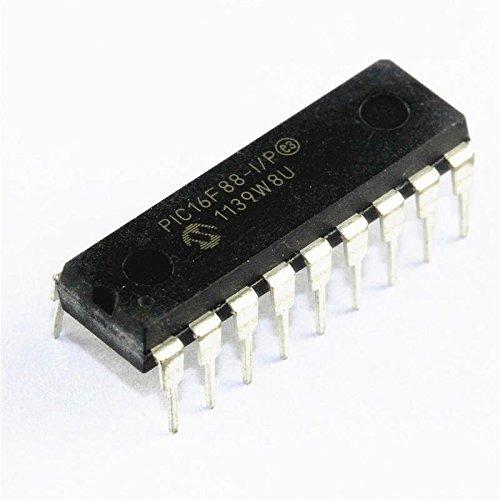 Exiron 10PCS PIC16F88-I/P PIC16F88 IC MCU 8BIT 7KB FLASH DIP-18 NEW