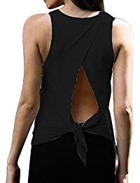 Sexy Yoga Tops Workout Clothes Racerback Tank Top for Sport Women