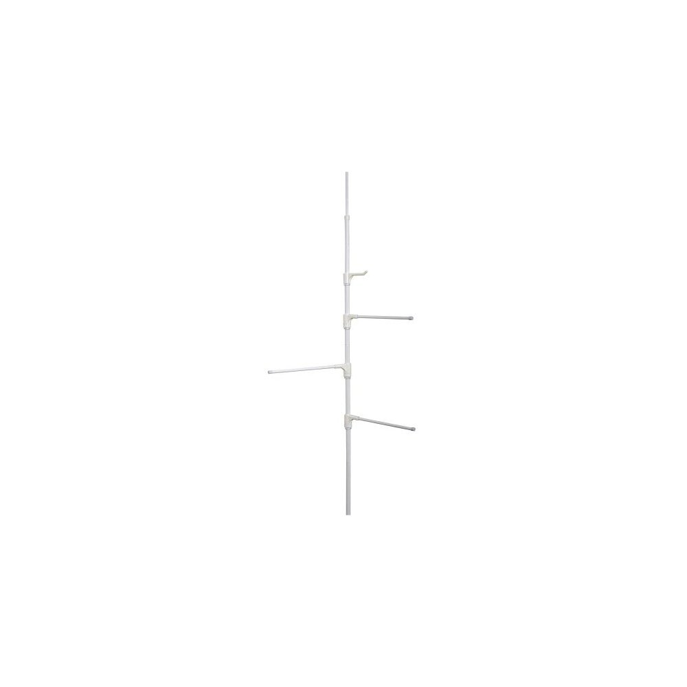 Zenna Home 7013W Behind-The-Door Towel Bar Or Tension Corner Pole Towel Caddy,