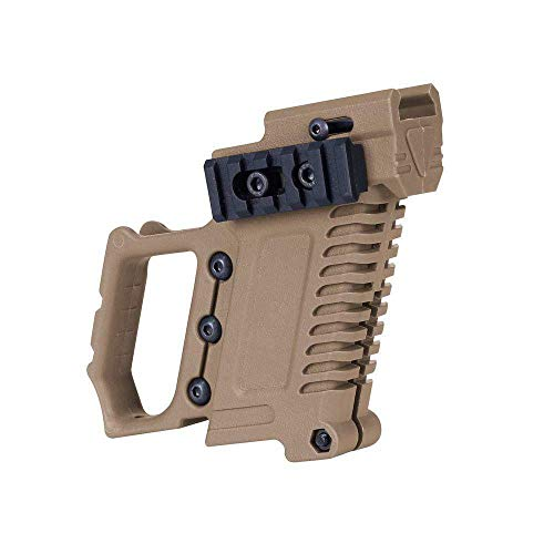 Tactical Pistol Grip Glove Cover Sleeve Anti Slip Hunting Accessories Party Pistol Gun Holster w/Magazine Torch Pouch for Glock 17 18 19 (Tan) (Tactical Pistol Grip)