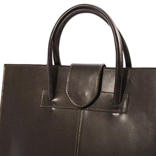 PALERMO braun Damen Aktentasche / Arbeitstasche / Laptop Tasche aus echtem Leder, Carelli Italia