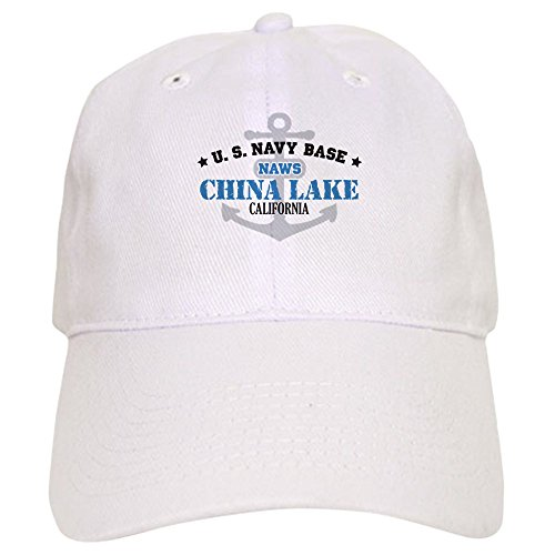 CafePress - US Navy China Lake Base Cap - Baseball Cap with Adjustable Closure, Unique Printed Baseball Hat China Base