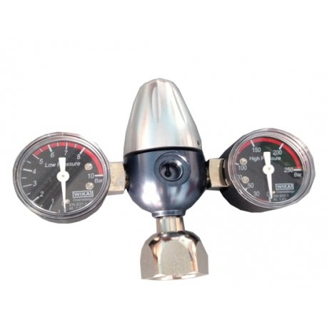 Riduttore di pressione Co2 per bombole ricaricabili (2 manometri) Sinergroup