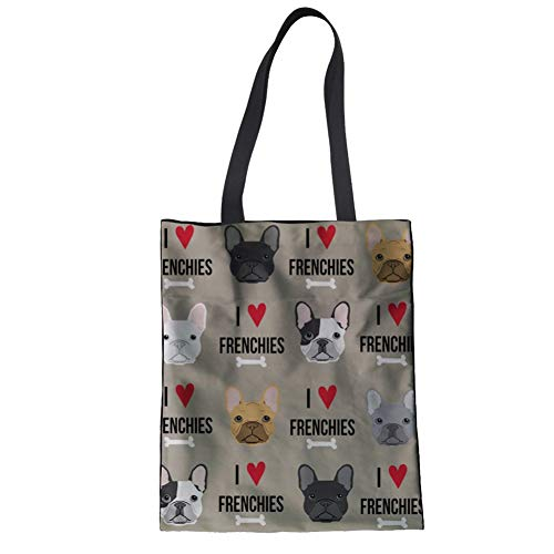 french bulldog messenger bag - 5