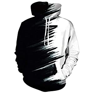 uideazone Unisexe 3D Polaire Sweat à Capuche Hiver Pull Hoodie Fantaisie Sweat-Shirts pour Homme Femme