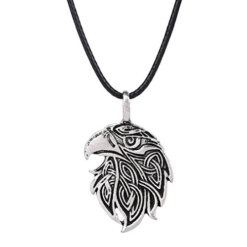 Beuu Stylish Vintage Viking Necklace Animal Teen Men Fashion Jewelry Pendant Supernatural (H) from Beuu