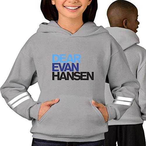 TenHood Dear-Evan-Prime-Hansen Teens Pullover Hoodie Long Sleeve Graphic Print Sweatshirt Cotton for Young Pocket Gray