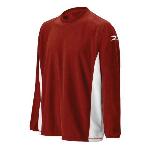 Pullover Mizuno Red (Mizuno Men's Team Microfleece G3 Pullover (Cardinal, X-Small))