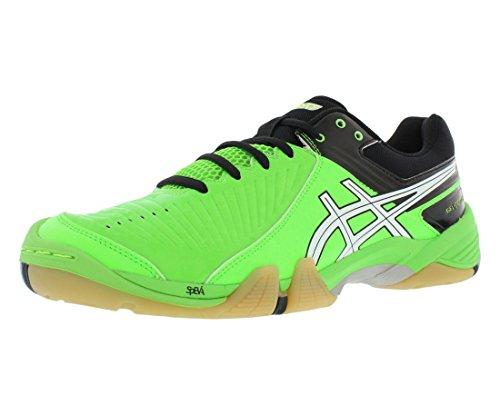 Asics Men's Gel-Domain 3 Volleyball Shoe,Neon Green/White/Black,10 M US