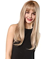"""Wigs 22""""Long synthetic wig with High Density Natural headline Heat Permanent hair wigs for women"""