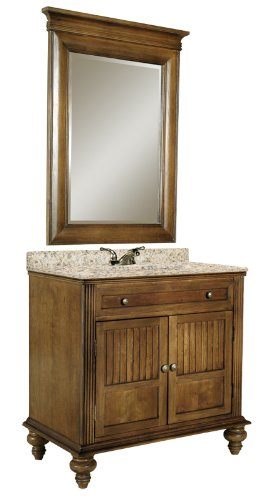 Kaco international 320-3600 Barbados 36-Inch Vanity with a Brown Cherry Sherwin Williams Finish, Vanity - 320 Cherry