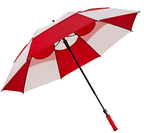 Bag Boy Rain Canopy - Bag Boy Telescoping Wind Vent Umbrella, Red/White