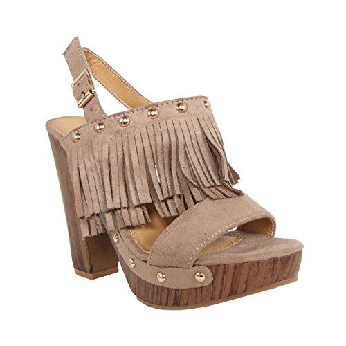 Zapatos de tacón de Mujer URBAN C6068 BEIGE