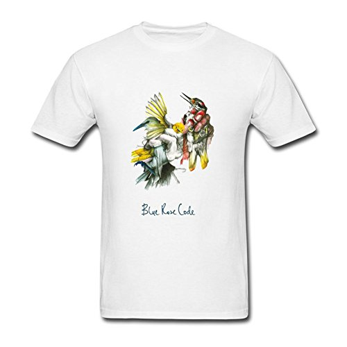 - FSCYHX Men's T-Shirts Blue Rose Code And Lo The Bird Is on the Wing